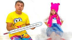 Nastya gibt vor, krank zu sein und Nastya Gutenachtgeschichte für Kinder