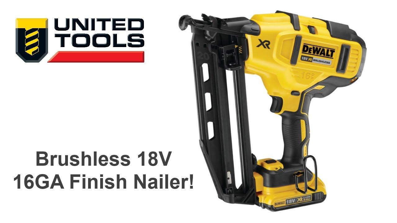 Dewalt 18V Brushless Finish Nailer DCN660 - 16Ga 2nd Fix Nail Gun ...