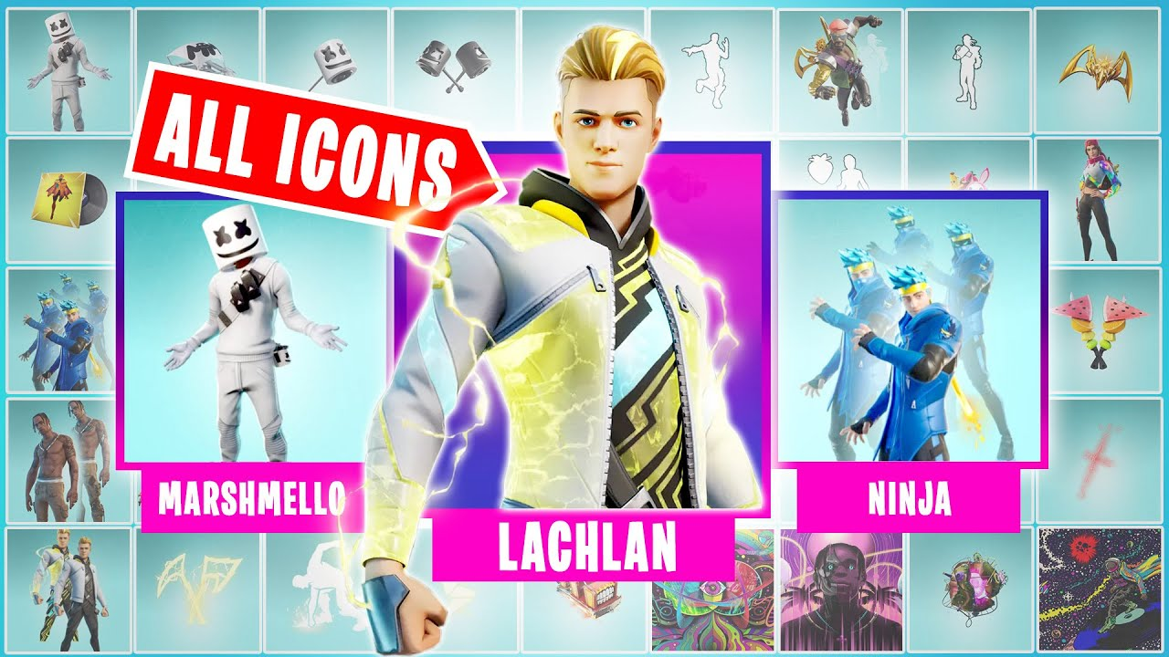 Fortnite Icon Skin All Icon Series Skins Emotes Back Bling Season 1 14 Youtube