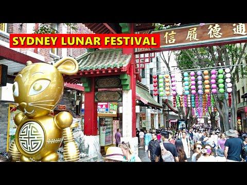 SYDNEY LUNAR FESTIVAL 2020 - Walking Around CHINATOWN & DARLING HARBOUR Sydney Australia