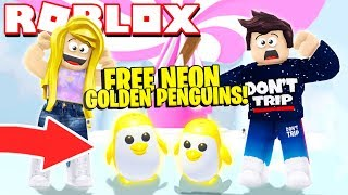 How to Get a FREE NEON Golden Penguin NEW Adopt Me PENGUIN Update! (Roblox)
