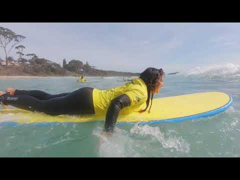 Ulladulla Surf Schools and Walking on Water by Grasshopper Travel