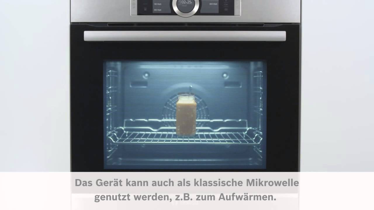 bosch sensor backofen serie 8 mikrowelle youtube. Black Bedroom Furniture Sets. Home Design Ideas