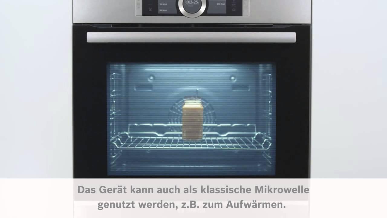 Bosch Sensor Backofen Serie 8 Mikrowelle Youtube