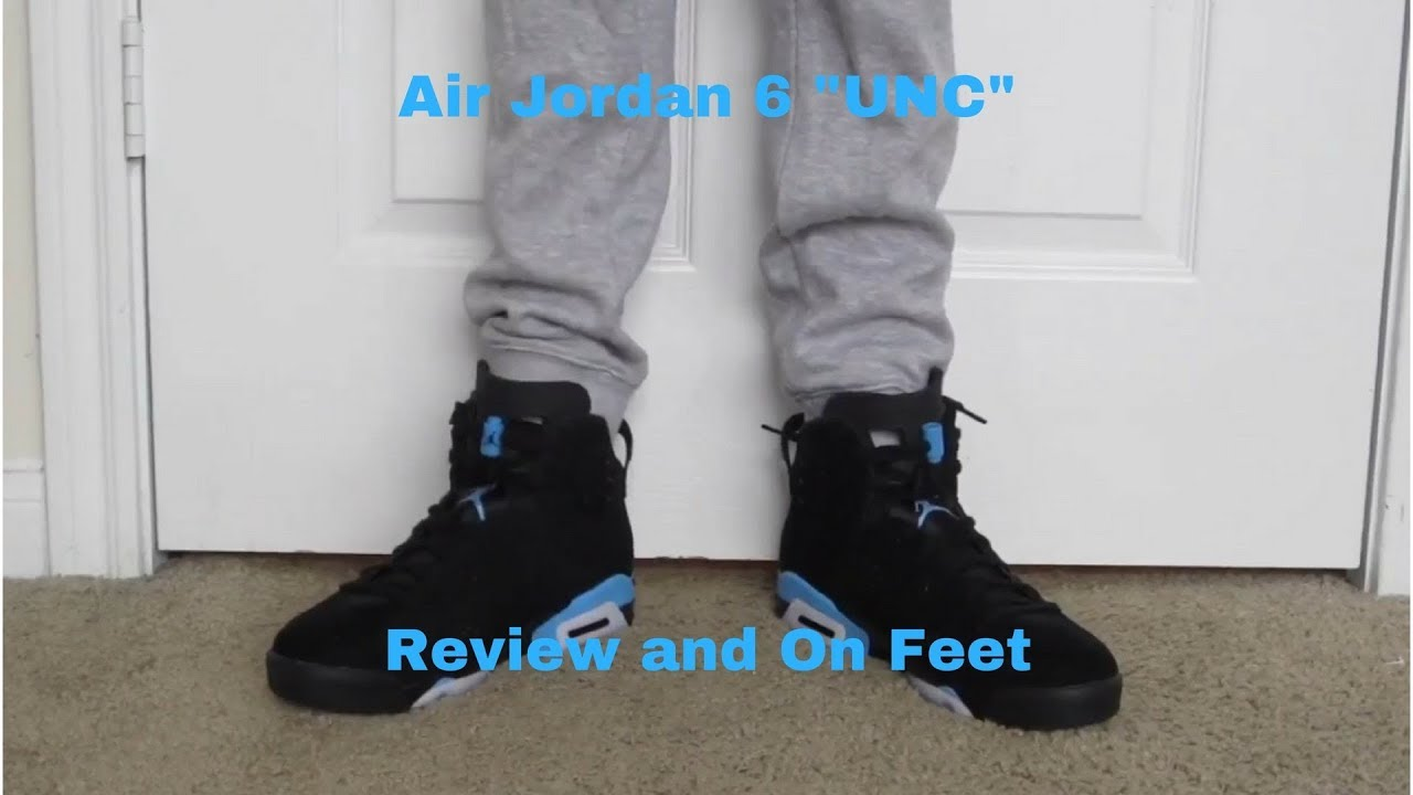 "947ad40039d4f5 AIR JORDAN 6 ""UNC"" REVIEW   ON FEET! - YouTube"