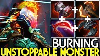 BURNING [Phantom Assassin] Unstoppable Monster Crit Damage is Insane 7.24 Dota 2