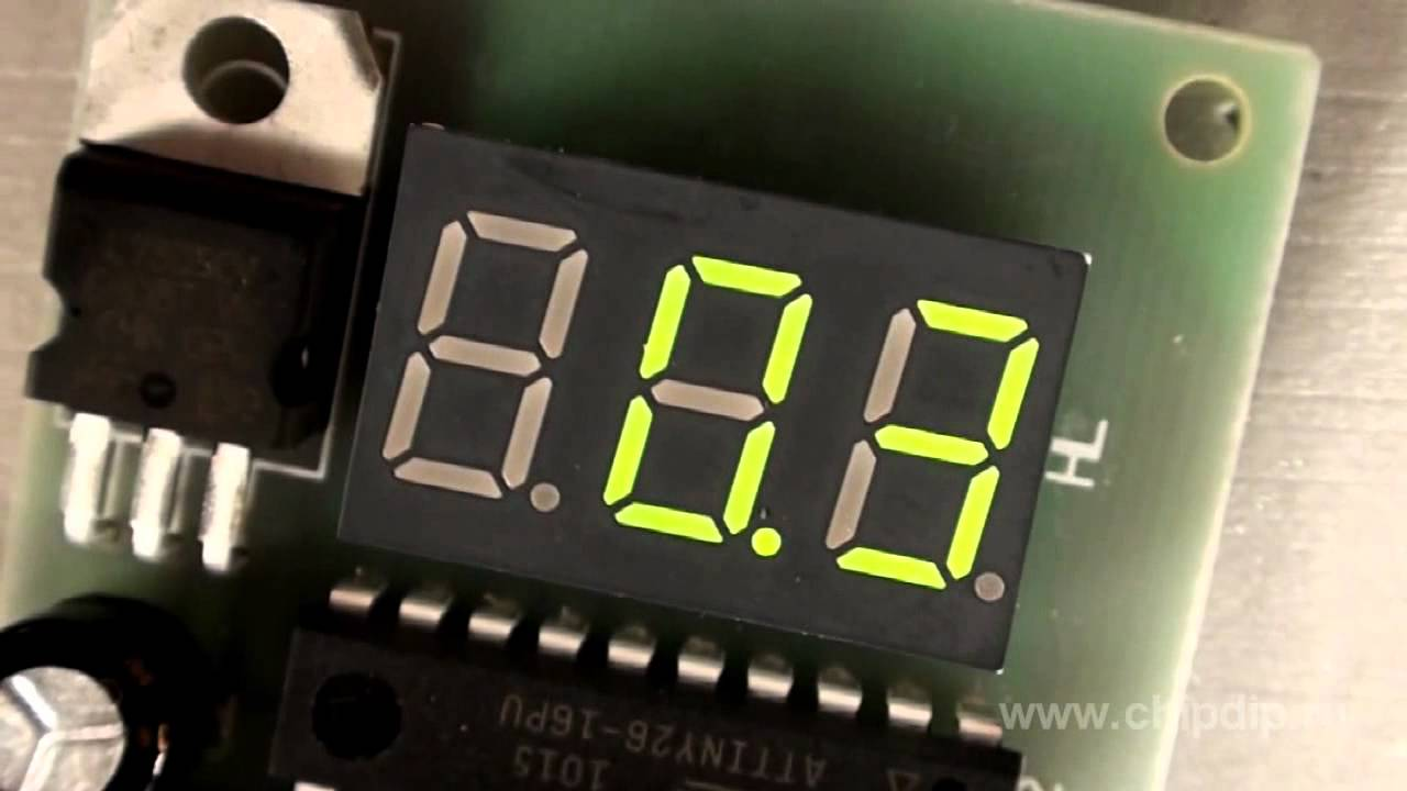 Digital Voltmeter Circuit Diagram Using Icl7107