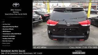Used 2014 Toyota Sienna | Sunrise Auto Sales, Rosedale, NY