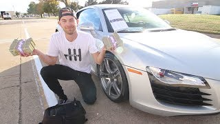 Buying this Audi R8 in CASH and THEN....
