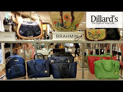 DILLARDS HANDBAGS BRAHMIN PURSE SHOPPING WALK THROUGH JUNE 2018