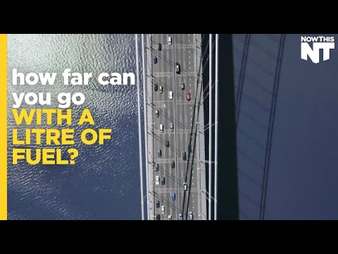 How far can you go with a cup of fuel? - Now This News | Shell #makethefuture