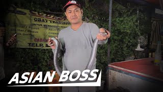 Why This Man Sells Cobra Meat and Blood In Indonesia | ASIAN BOSS