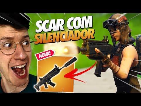 MUITO FORTE?! *NOVA ARMA* SCAR COM SILENCIADOR - FORTNITE thumbnail