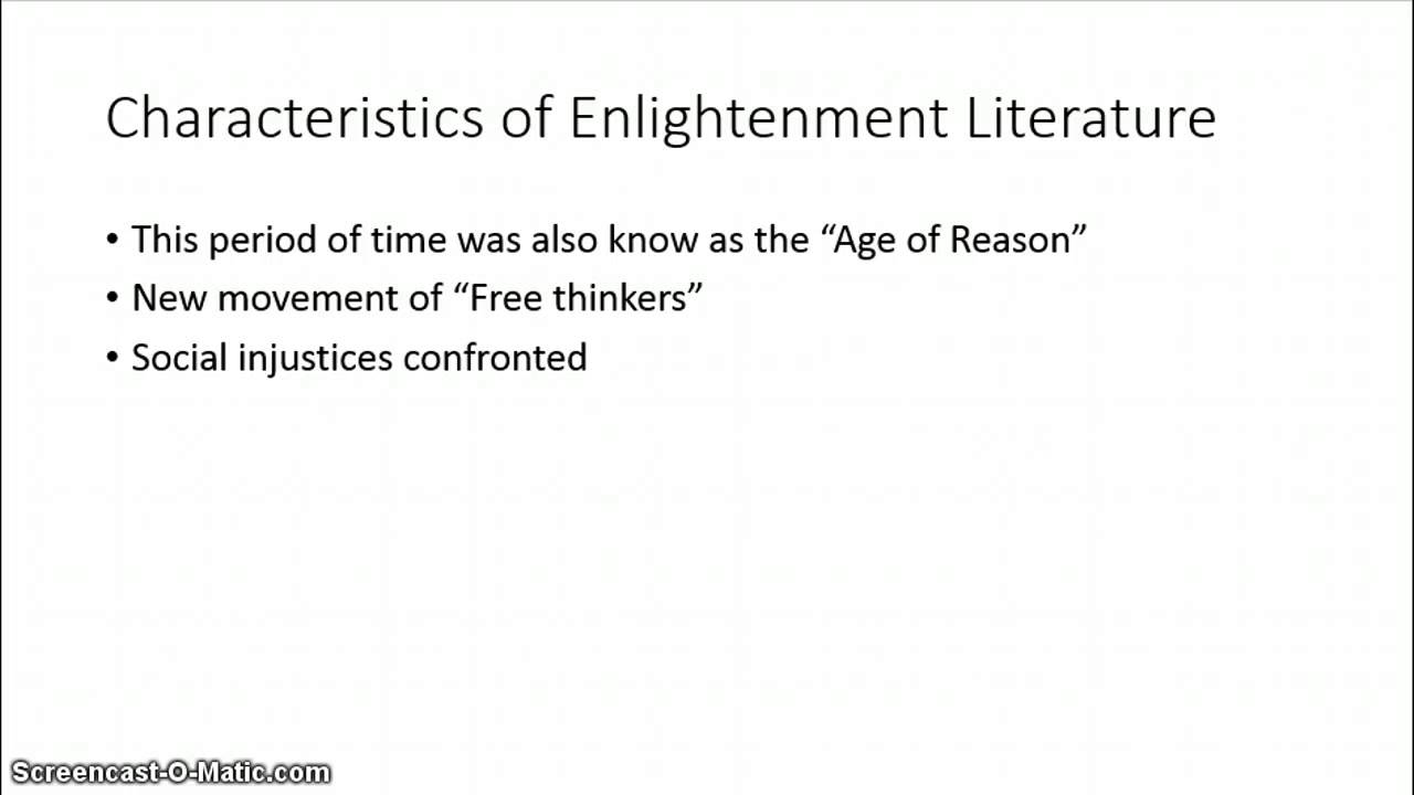characteristics of the age of enlightenment