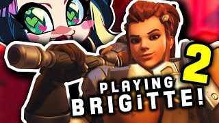 OVERWATCH'S NEW HERO! ►BRIGITTE ► PART 2  ► Up Close and Personal! - Kitty Kat Gaming