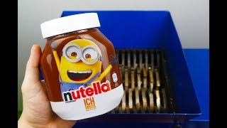 SHREDDING NUTELLA MINIONS! AMAZING VIDEO!
