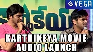 Manchu Manoj and Allari Naresh Comedy At Karthikeya Movie Audio Launch