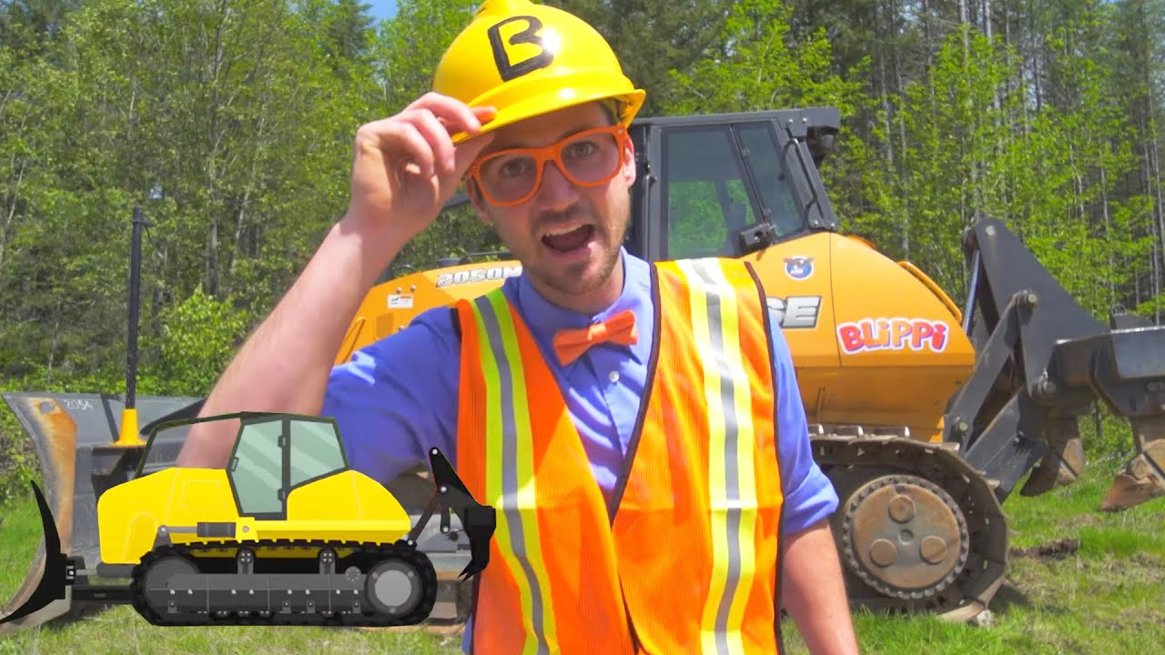Blippi Explores Construction Trucks For Kids | Educational Videos For Toddlers | 1 Hour of Blippi