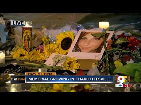 Site of Charlottesville victim's death becomes a memorial