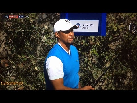 Tiger Woods First Round - Farmers Insurance Open 2017.