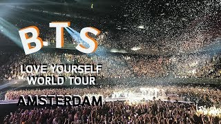 FRONT ROW SEATS AT BTS FIRST CONCERT IN AMSTERDAM