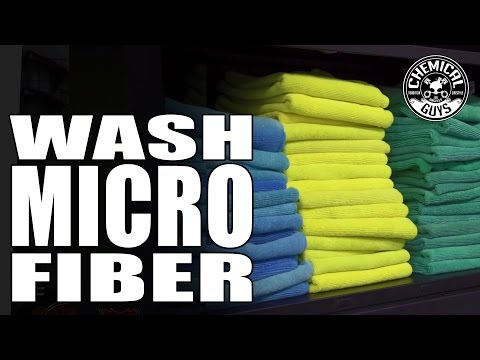 How To Wash Microfiber Towels Correctly - Chemical Guys - Microfiber Wash