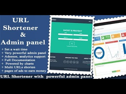 URL Shortener with Ads and Powerful Admin Panel Demo