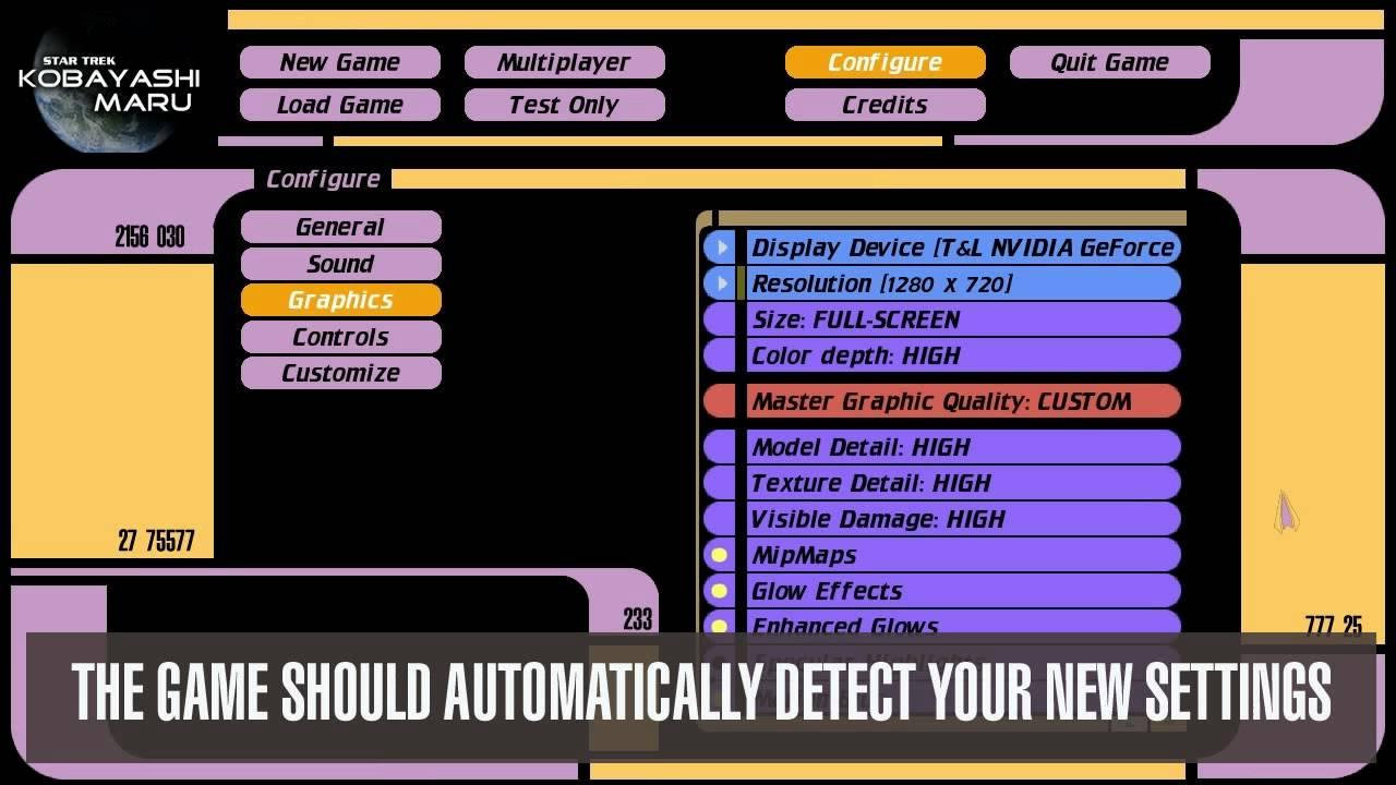 Star Trek Bridge Commander How To Change Resolution To Widescreen