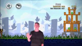 Angry Birds Trilogy Kinect Review  Gameplay (HD) Xbox 360