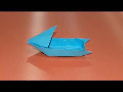 How To Make An Origami Motorboat Boat 03 Youtube