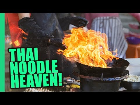 Bangkok's Impossible Pad Thai Noodles! Thai STREET FOOD Magic on Bangkok's Michelin Food Street!