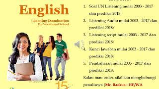 Video Listening audio Ujian Nasional UN UNKP UNBK SMK MAK Bahasa Inggris 2016 2017 download MP3, 3GP, MP4, WEBM, AVI, FLV November 2017