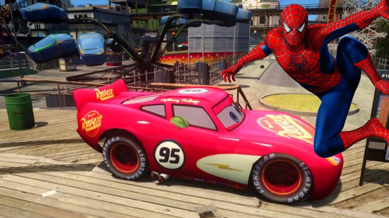 Человек-паук (Spiderman) и Тачки (CARS) болиды в ...