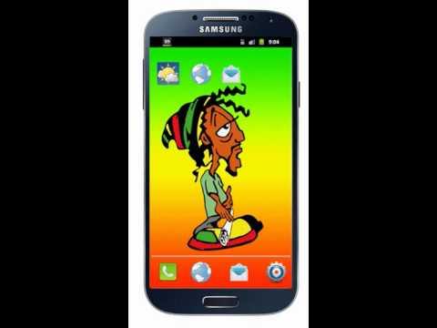 Live WallPaper Bob Marley Smoke . Android