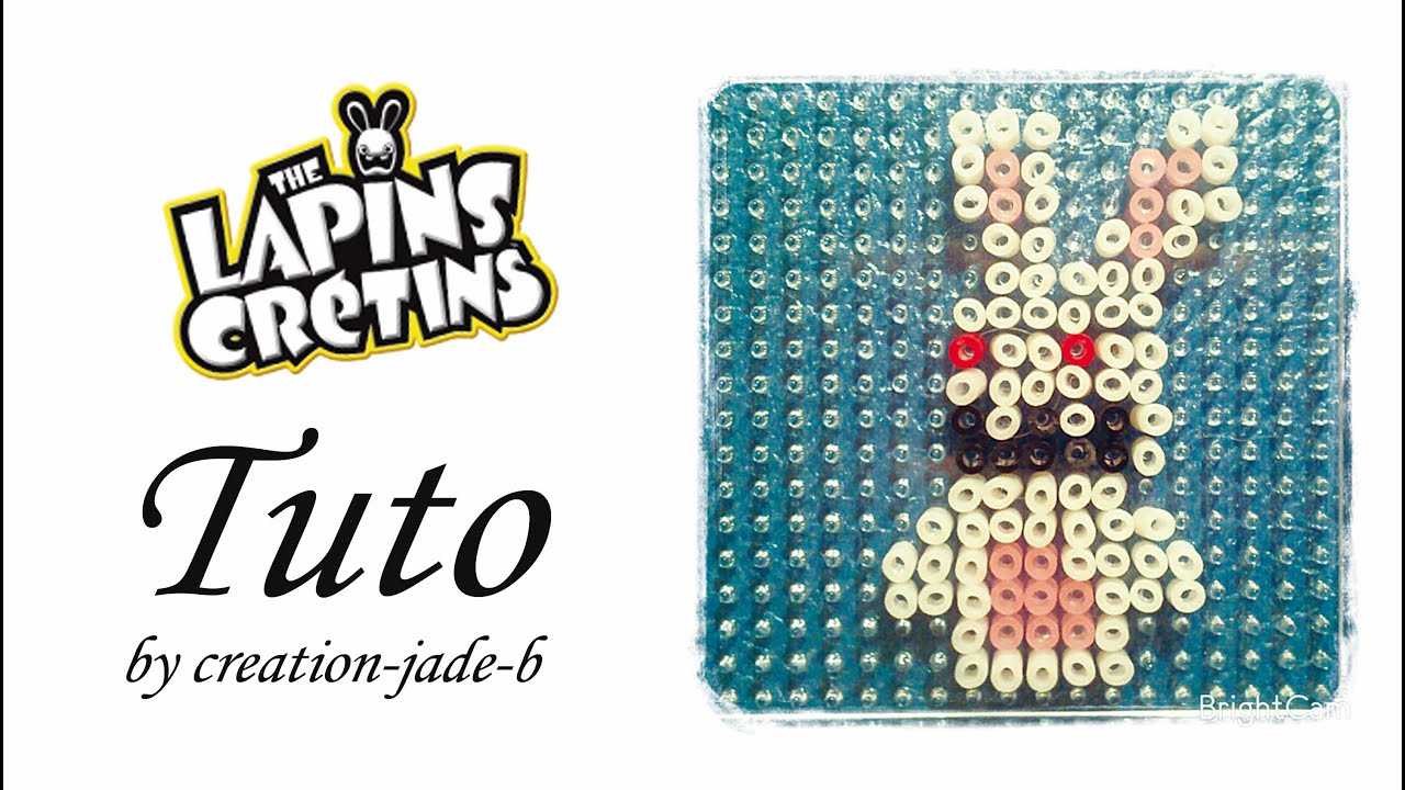 Tuto perles repasser hama lapins cr tins youtube - Creation facile a faire ...