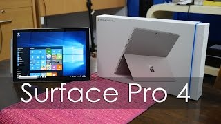 Microsoft Sufrace Pro 4 Unboxing & Overview the Surface Pro 4 is a ...