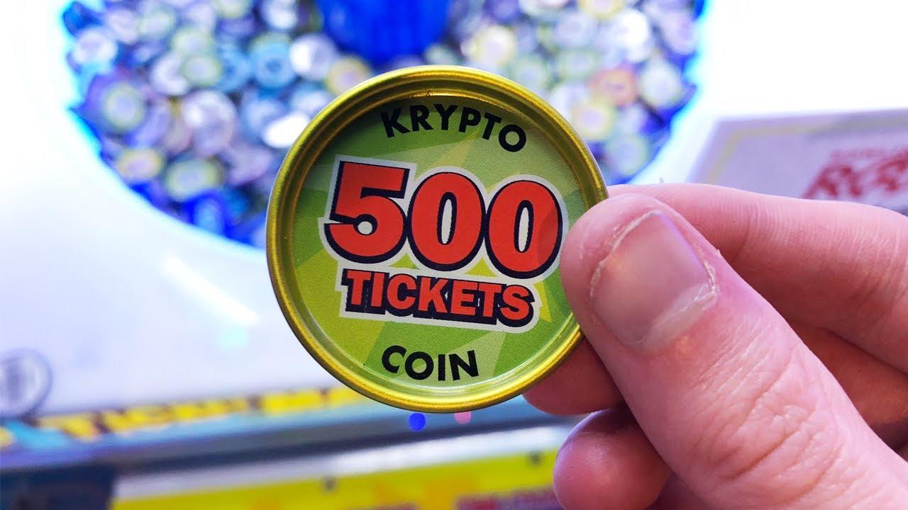 I won the rare coin at the arcade!!