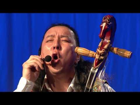 Mongolian throat singing Delehei, a Mongol musician