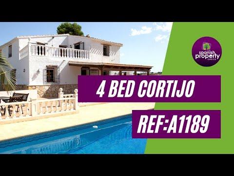 Spanish Property Choice Video Property Tour - Cortijo A1189 Albox, Almeria, Spain. 199,905€