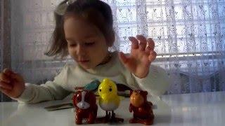 Заводные животные в яйцах сюрприз игрушки распаковка animals toys plastic surprise eggs