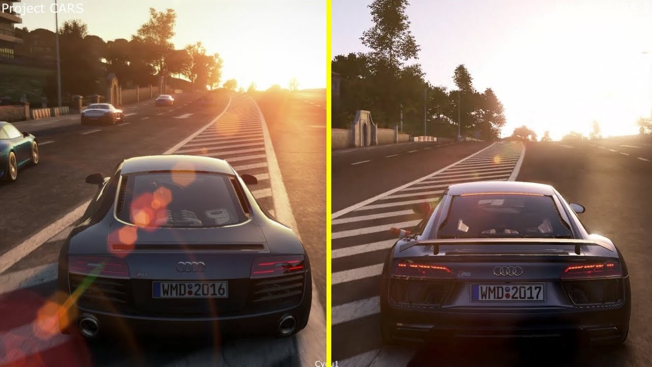 project cars vs project cars 2 ps4 pro graphics comparison. Black Bedroom Furniture Sets. Home Design Ideas