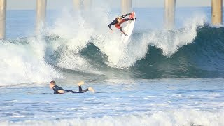 Surfing HB Pier   March 19th   2018 (RAW)