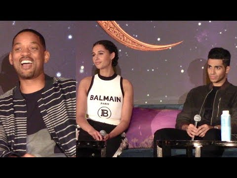 [FULL] Disney 'ALADDIN' Press Conference | Will Smith, Naomi Scott, Mena Massoud