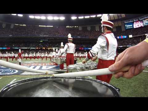 2014 Allstate Sugar Bowl - OU Drumline Pre-Game