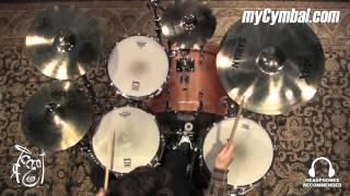 """Sabian 10"""" AAX Splash Cymbal - Brilliant - 249g - Played by Shawn Zorn (21005XB-1020616G)"""