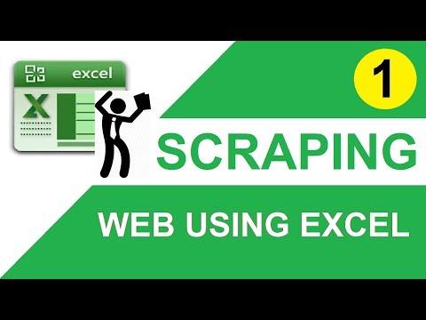Tutorial 1 : Scraping Data From Website Using Excel Macro(vba)