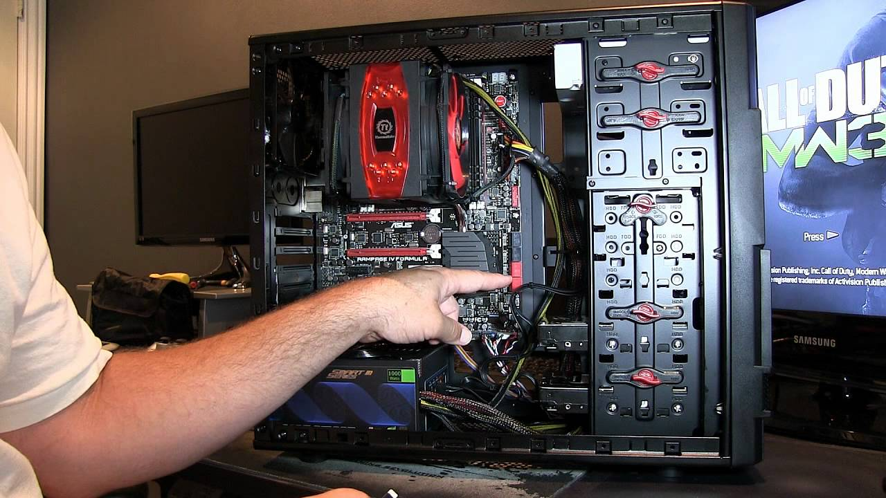 extreme gaming pc wiring how to build part 4 asus youtube cat6 wiring guide pc wiring guide [ 1280 x 720 Pixel ]