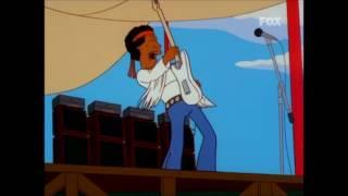Canciones Simpson 10x06 Jimi Hendrix en Woodstock