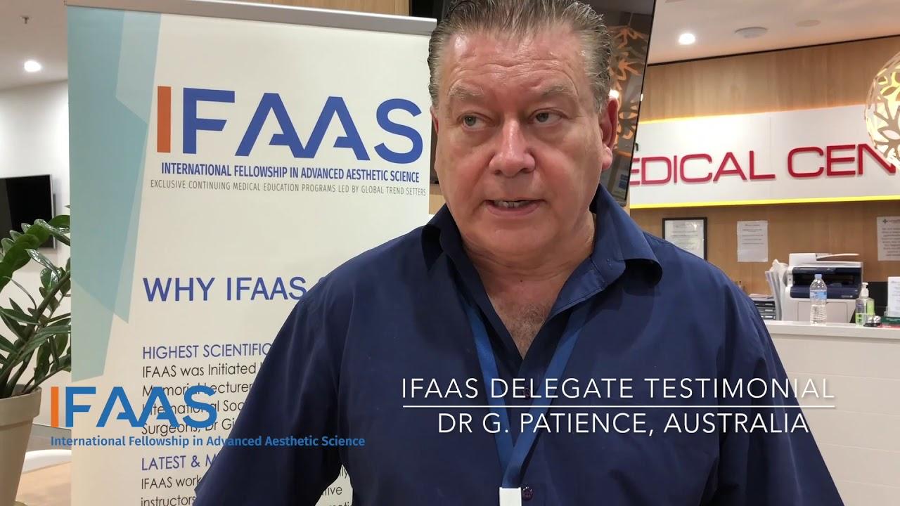 IFAAS Delegate Testimonial - Dr  G  Patience | Australia