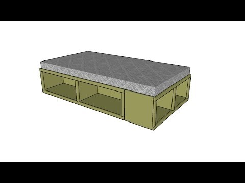 Storage twin bed plans